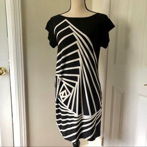 BCBG Max Azria Black/White dress, S